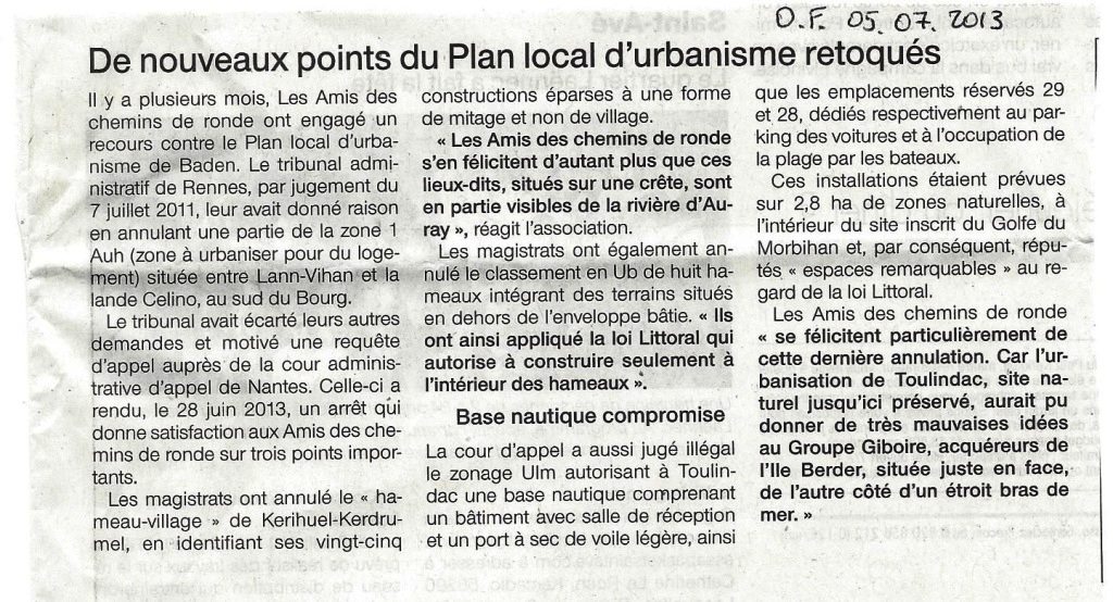 ouest france 130705 annulation plu baden